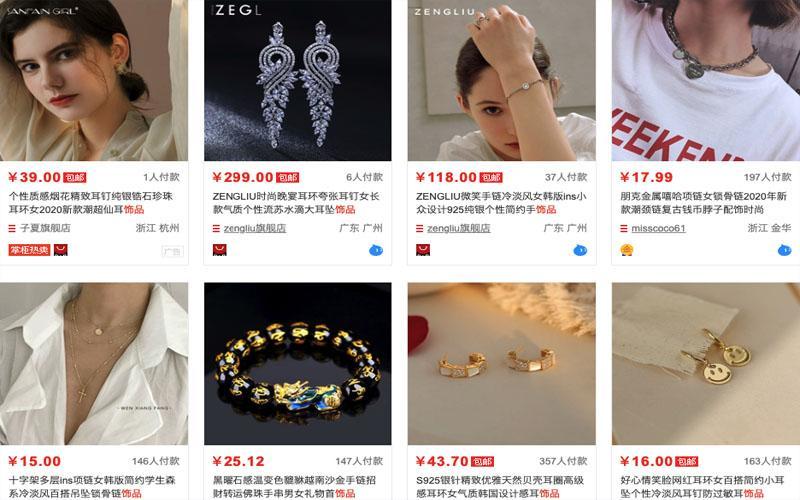 Nguồn order phụ kiện trang sức trên Taobao